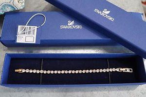 【送料無料】ブレスレット アクセサリ― スワロフスキーテニスブレスレットローズゴールドメッキswarovski tennis bracelet, rose goldplated 5039938 nib 100 authentic