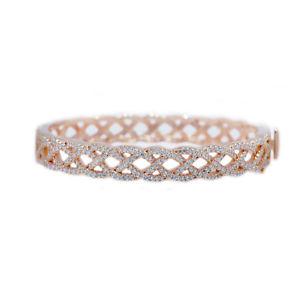 【送料無料】ブレスレット アクセサリ― 925 スターリングczブレスレット925 sterling silver clear cz rose gold bracelet