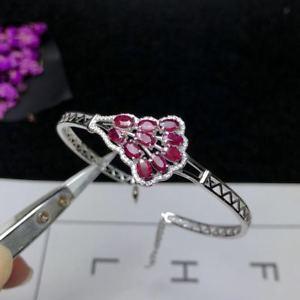 【送料無料】ブレスレット アクセサリ― ミャンマールビー925スターリングブレスレット3*5mmcertified myanmar ruby 925 sterling silver adjusted bracelet engagement 3*5mm