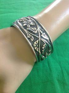 【送料無料】ブレスレット アクセサリ― スターリングシルバーカフブレスレットsilpada sterling silver floral cuff bracelet b1475  htf 20062007