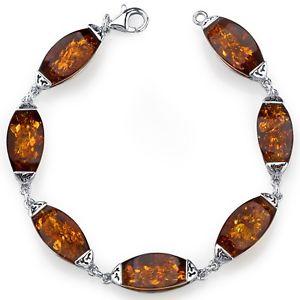 【送料無料】ブレスレット アクセサリ― バルトギャラリーブレスレットスターリングシルバーコニャックbaltic amber gallery bracelet sterling silver cognac color