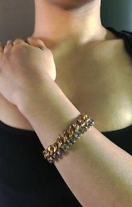 【送料無料】ブレスレット アクセサリ― poggi parisスワロフスキーチェーンリンクブレスレットフランスpoggi paris french collectible gorgeous swarovski crystal chainlink bracelet