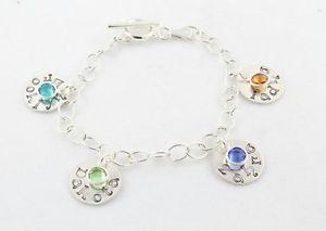 【送料無料】ブレスレット アクセサリ― スターリングシルバーカスタムパーソナライズブレスレットmothers day gift sterling silver custom personalized charm bracelet
