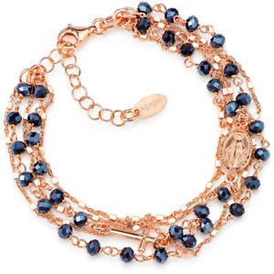 【送料無料】ブレスレット アクセサリ― ブレスレットアーメンbrmfrgジルコン925womensbracelet amen brmfrg rose heart zircons blue 925 silver womens fashion