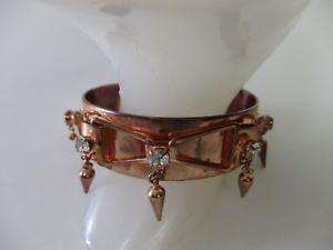 【送料無料】ブレスレット アクセサリ― ローズゴールドスパイククリスタルカフブレスレットドルdannijo rose gold spike crystal cuff bracelet nwot 475 irrg