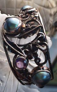 【送料無料】ブレスレット アクセサリ― スターリングリゾーツスターリングカフブレスレットパールアメジストカフブレスレットsterling cuff bracelet pearl and amethyst cuff bracelet