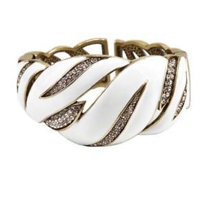 【送料無料】ブレスレット アクセサリ― モダンニュー150heidi dausエナメルカフスブレスレットサイズsm 150 heidi daus mod about you crystal white enamel cuff bracelet size sm