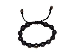 【送料無料】ブレスレット アクセサリ― 10mmマットブレスレットhandmade woven bracelet with 10mm matte grey hematite beads