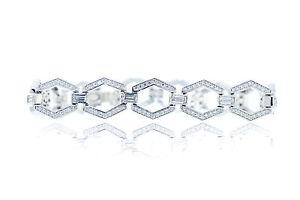 【送料無料】ブレスレット アクセサリ― helene o 925スターリング725テニスブレスレットs315helene o  925 sterling silver 725 hexagon tennis bracelet s315