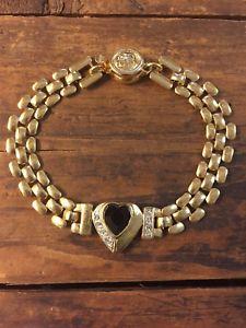【送料無料】ブレスレット アクセサリ― givenchyヴィンテージヒョウリンクチェーンブレスレットauthentic givenchy vintage panther link chain bracelet with heart