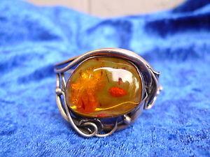 【送料無料】ブレスレット アクセサリ― ブレスレットシルバーオレンジアールヌーボーbeautiful, old bracelet __800 silver with amber __art nouveau __
