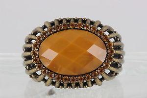 【送料無料】ブレスレット アクセサリ― antique brass hinged chunky amber stones bracelet fashion2373antique brass hinged chunky amber stones bracelet fashion 237