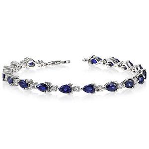 【送料無料】ブレスレット アクセサリ― 675 ctナシサファイアスターリングブレスレット675 ct pear blue sapphire sterling silver bracelet