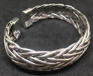 【送料無料】ブレスレット アクセサリ― 725 925sterlingweave cuff women men bracelet725 925 sterling silver weave cuff women men bracelet