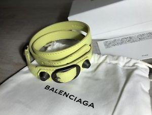 【送料無料】ブレスレット アクセサリ― トリプルツアーブレスレットダークトーンサイズタグブランドbalenciaga triple tour leather bracelet dark tone size m brand with tags