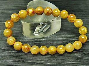 【送料無料】ブレスレット アクセサリ― ゴールデンルチルラウンドストレッチブレスレット8mm 4a natural titin golden rutilated quartz round stretch bracelet gift bl9816