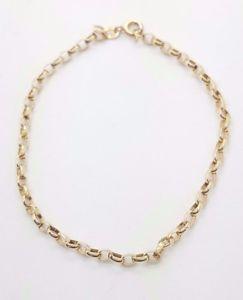 【送料無料】ブレスレット アクセサリ― イエローゴールドベルチャーチェーンブレスレット9ct 375, 9k yellow gold belcher chain bracelet