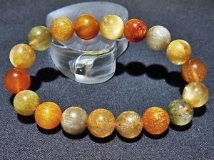 【送料無料】ブレスレット アクセサリ― 11mm4aルチルブレスレットgift bl677311mm rare 4a natural golden rutilated quartz round beads bracelet gift bl6773