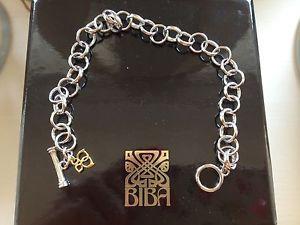 【送料無料】ブレスレット アクセサリ― シルバートグルブレスレットbibasterling silver toggle charm bracelet