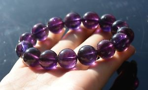 【送料無料】ブレスレット アクセサリ― アメジストラウンドビーズストレッチブレスレットnatural purple amethyst quartz crystal men round beads stretch bracelet5991g