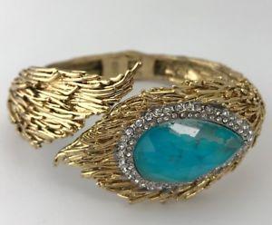 【送料無料】ブレスレット アクセサリ― モルディブフェザーカフヒンジブレスレットalexis bittar maldivian feathered cuff hinged bracelet