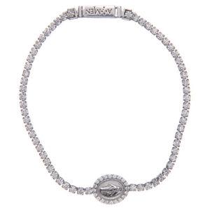 アクセサリ― amen 【送料無料】ブレスレット miraculous bracelet medal テニスブレスレットアーメンメダルtennis