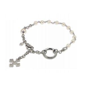 【送料無料】ブレスレット アクセサリ― シルバーホワイトブラザーズブレスレットtuum rosary bracelet in silver 925 and natural pearls white bros 009pc0