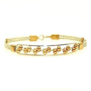 【送料無料】ブレスレット アクセサリ― ロナウドブレスレットシルバーkゴールドアーティストワイヤラップronaldo journey 334 bracelet silver w 14k gold artist wire wraps amp; gold filled b