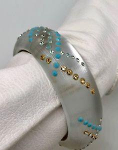 【送料無料】ブレスレット アクセサリ― クリスタルビーズブレスレットhandcarved by alexis bittar lucite crystal bead bracelet beautiful