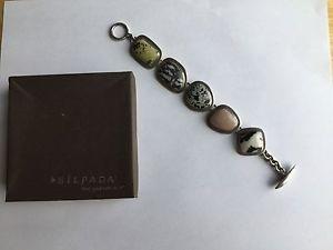 【送料無料】ブレスレット アクセサリ― ダルマチアタキシードジャスパートグルリンクブレスレットカタログsilpada dalmatian tuxedo jasper toggle link bracelet 2001 catalog b0617 retired
