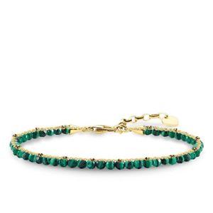 【送料無料】ブレスレット アクセサリ― トーマスイエローゴールドグリーンマラカイトブレスレットgenuine thomas sabo yellow gold green malachite bracelet ta1714