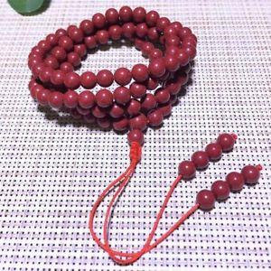 【送料無料】ブレスレット アクセサリ― ストレッチラウンドビーズブレスレットnatural red cinnabar crystal stretch round 108 beads bracelet 6mm