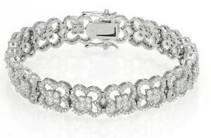 【送料無料】ブレスレット アクセサリ― スターリングシルバーデザイナーブレスレットstunning designer 770ct tw aaa quality cz bracelet in 925 sterling silver