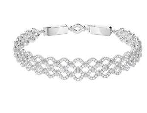 【送料無料】ブレスレット アクセサリ― スワロフスキーレースブレスレットswarovski lace bracelet crystal authentic mib5371379