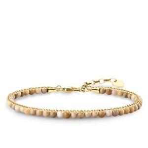 【送料無料】ブレスレット アクセサリ― トーマスイエローゴールドベージュジャスパーブレスレットgenuine thomas sabo yellow gold beige jasper bracelet ta1715