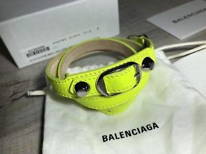 【送料無料】ブレスレット アクセサリ― トリプルツアーレザーブレスレットシルバーサイズタグブランドbalenciaga triple tour leather bracelet silver tone size s brand with tags