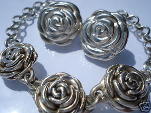 【送料無料】ブレスレット アクセサリ― ベルシルバーブレスレットイヤリングピンクボタンbelle 12 set pink button in silverbraceletearrings