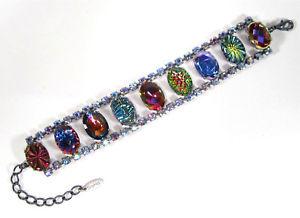 【送料無料】ブレスレット アクセサリ― ブレスレットビンテージクリスタルライトサファイアボヘミアsoho bracelet vintage crystals light sapphire aurore boreal bohemia space age