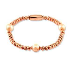【送料無料】ブレスレット アクセサリ― ローズコートスターリングシルバーリンクブレスレットrose coated sterling silver magnetic link bracelet