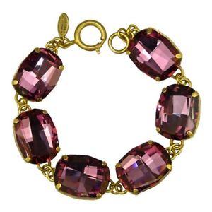 【送料無料】ブレスレット アクセサリ― laパリジェンヌブレスレット1674gブドウla vie parisienne gold plate round rectangle crystal bracelet 1674g vintage rose