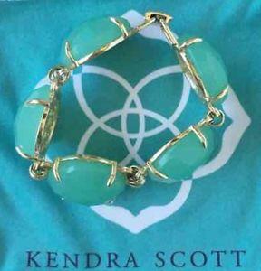 【送料無料】ブレスレット アクセサリ― ケンドラスコットcassieブレスレットkendra scott chalcedony cassie bracelet in very good condition