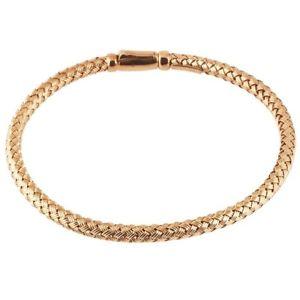【送料無料】ブレスレット アクセサリ― スターリングシルバーローズゴールドブレスレットsterling silver rose gold plated braided bracelet