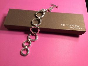 【送料無料】ブレスレット アクセサリ― シルバーラッシュブレスレットドルsilpada 925 sterling silver silver rush hammered bracelet b2709 7400 209