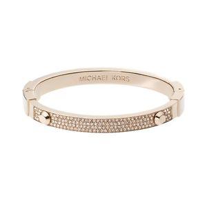 【送料無料】ブレスレット アクセサリ― ミハエルアスターヒンジブレスレットプラスボックスmichael kors astor pave hinged bracelet nwt plus authentic gift box