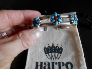 【送料無料】ブレスレット アクセサリ― ハーポシルバーブレスレットターコイズコーラルharpo authentic 925 silver bracelet turquoise amp; coral beautiful