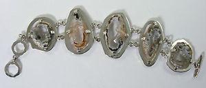 【送料無料】ブレスレット アクセサリ― シルバーブレスレット950 silver geode bracelet 476g