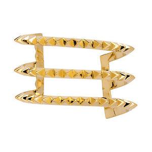 【送料無料】ブレスレット アクセサリ― 14kゴールドカフスbrass 14k gold plated don't get it twisted cuff
