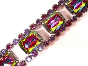 【送料無料】ブレスレット アクセサリ― ブレスレットビンテージボヘミアガラスアメジストsoho bracelet vintage crystals volcano bohemia space age glass stones amethyst