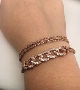 ブレスレット アクセサリ— ピンクローズゴールドスターリングシルバーラップブレスレットドルin spirit design pink amp; rose gold plated sterling silver wrap bracelet rrp 250