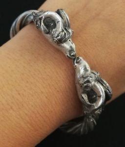 【送料無料】ブレスレット アクセサリ― ソリッドシルバーブレスレットold ram bracelet in solid silver